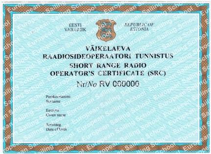 Государственное удостоверение радиооператора маломерного судна